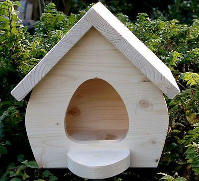 Vogelhaus Holz Futterhaus natur bemalen Top Qualität Vogelvilla Holz-futterhaus