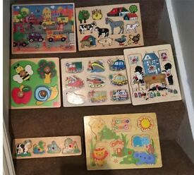 Toys for toddlers - bundle (wooden puzzles, toys, blocks, Peppa stuff)