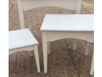 Upcycled shabby chic style tables