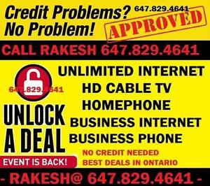 INTERNET UNLIMITED, INTERNET AND CABLE TV, BUNDLE DEAL, CHEAP INTERNET NO CONTRACT , FAST INTERNET , INTERNET DEAL
