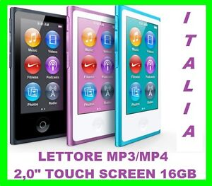 LETTORE-MP3-MP4-16GB-2-0-TOUCH-SCREEN-LCD-IN-METALLO-RADIO-FM-FOTO-VIDEO