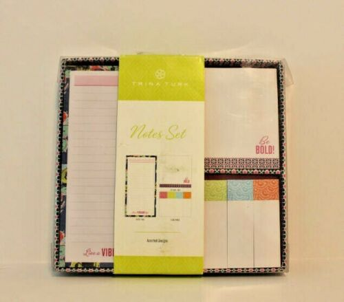 Trina Turk Notes Set Note Pads Flag Pads Sticky Pads Stationary *SEALED*