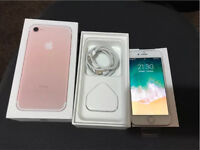 New Apple iPhone 7 rose gold unlocked to any network with warranty boxed