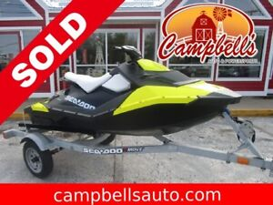 2015 SEA-DOO-BRP SPARK SEA DOO HAS ONLY 19 HOURS!!  TRAILER INCL