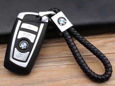 CAR Logo Emblem Key Chain Black Genuine Leather Alloy Accessories Gift