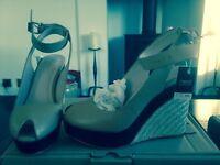New Next peep toe wedge shoes size 4