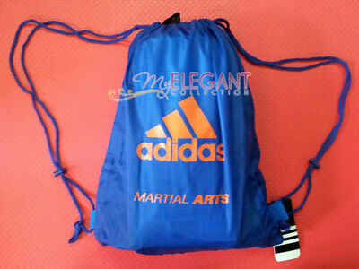 - Adidas MARTIAL ARTS Gear Gym Sports Tote Drawstring Pack Nylon Sling Bag Blue