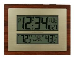 Better Homes & Gardens Atomic Clock w/ Weather, Temperature, Alarm, Time, & Date