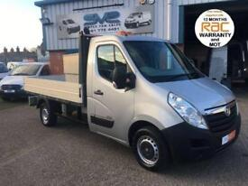 2012 12 VAUXHALL MOVANO 6 SPEED 125 BHP DROPSIDE WITH LOCKABLE TOOL BOX