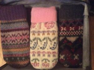 Wool sweaters, felted and ready for repurposing