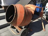 Belle 150 cement mixer with stand