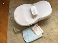 Excellent condition Red Castle Cocoonababy and spare light blue sheet