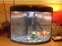 Aqua One UFO 350 Corner Fish Tank Aquarium with Stand