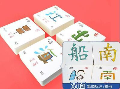 252pcs Chinese hanzi card Pictographic literacy pinyin book 象形有图识字卡片