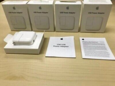 Original Apple 12W USB Power Adapter for All IPOD, IPAD & IPHONE Wall Charger