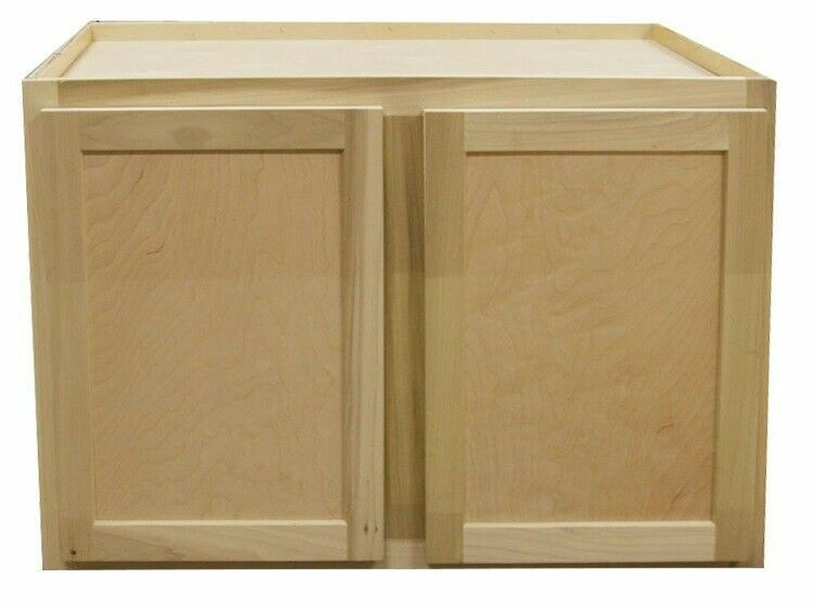 Kitchen Wall Cabinet   Unfinished Poplar   Shaker Style   36x24x24 in.