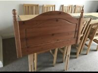 Pine single headboard for sale - £5