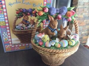 Beautiful Porcelain Easter Basket