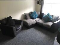 Corner Sofa & Single Chair