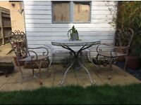 Rustic Table and 2 matching chairs
