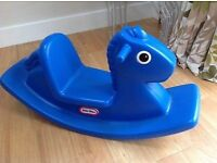 Fisher price little tikes BLUE rocking horse excellent condition