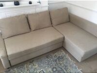 IKEA FRIHETEN BEIGE SOFA BED EXCELLENT CONDITION CAN DELIVER