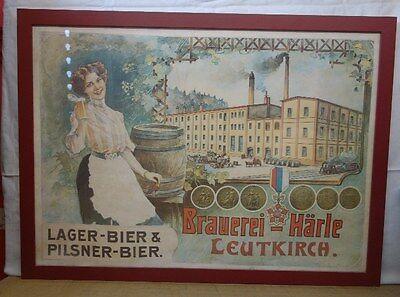 Plakat im Rahmen Brauerei Härle Leutkirch
