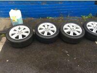 "Audi Alloys with tyres 17"" (Bmw, Vw, Mercedes, golf, bora)"