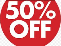 50% offer, limited spaces, book up to a year in advance