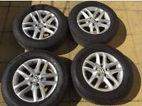 """4 x 16"""" VW Alloy Wheels with Tyres REDUCED!"""