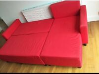 L shape sofa bed + storage •free delivery