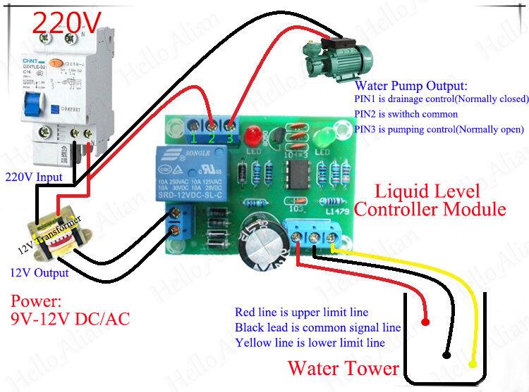 AC/DC 9V-12V Liquid Level Controller Module Sensor Water Level Detection Sensor