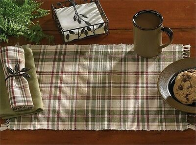 Placemat - Thyme by Park Designs - Kitchen Dining Green Burgundy Tan