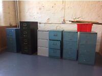 Filing cabinets x 6