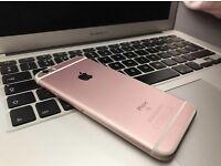 iPhone 6S, Rose Gold, Unlocked, Warranty/ Receipt Good Condition