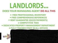 LANDLORDS NEEDED. GUARANTEED RENT, NO STRINGS ATTACHED.