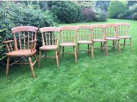 Vintage Farmhouse Kitchen Chairs