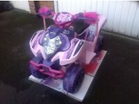 Brand New Ex-Display Feber Pink Purple Princess 6v Battery Powered Kids Quad Bike