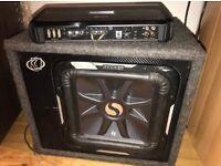 "12"" L7 Kicker sub and amp car audio, quick sale"