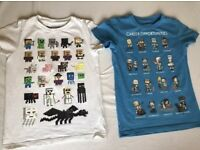 Mine craft tshirts x2 5-6 years very good condition