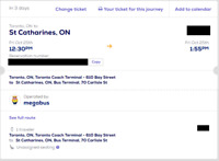 Toronto to St Catharines and back Megabus Tickets