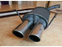 Vauxhall Corsa C back box slip on exhaust - twin tip - chrome - perfect condition - £40 ono