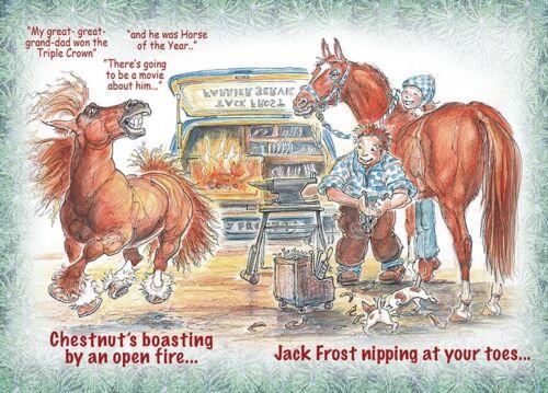 Chestnuts Boasting Jack Frost Farrier Blacksmith Horseshoer Christmas Cards
