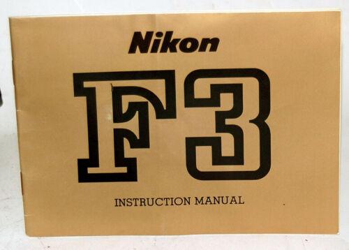 Nikon F3 Owners Manual - Original