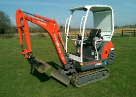 Mini Digger and operator hire and dumper truck, norfolk & suffolk