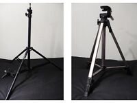 2 tripods for camera/ flash
