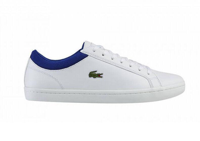 Lacoste Straightset SP NEU Herren Leder Sneaker Weiß white Golf Polo Anzug
