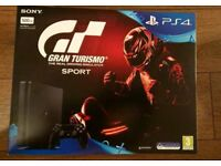 PS4. New. Slim 500GB Gran Turismo sport bundle. Brand New.