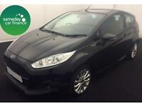 ONLY £183.31 PER MONTH BLACK 2014 FORD FIESTA 1.6 ZETEC S 3 DOOR DIESEL MANUAL