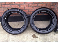 """17"""" nearly new part worn tyres +7mm"""